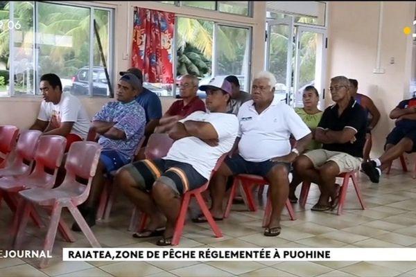 Raiatea : Puohine dit oui à une zone de pêche règlementée.