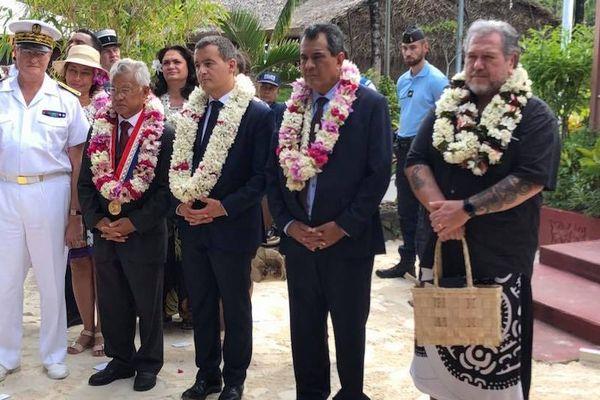 Gérald Darmanin en visite à Bora Bora