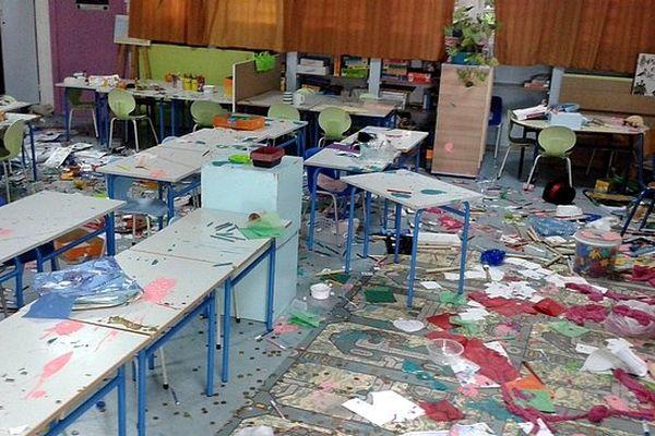 Ecole maternelle des Bancouliers saccagée
