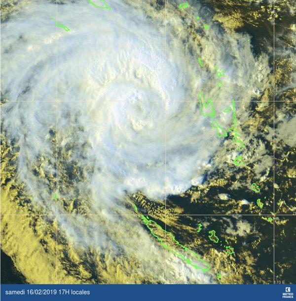 Carte satellite d'Oma, 16 février au soir