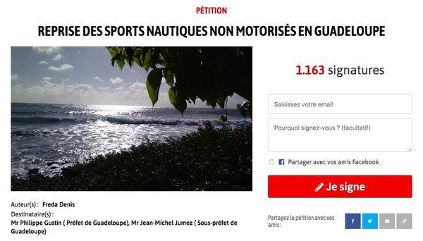 Pétition accès aux plages Guadeloupe