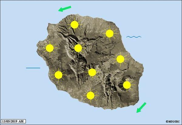 Carte météo 13 mai 2019