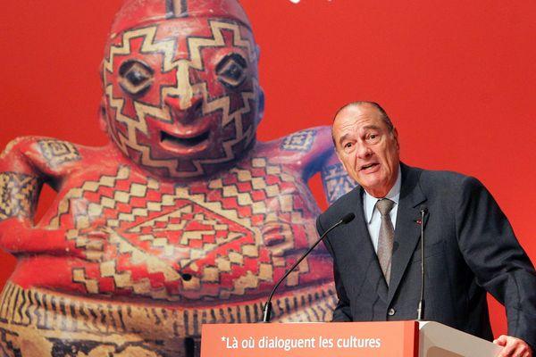 Jacques Chirac lors de l'inauguration du musée Quai Branly le 20 juin 2006