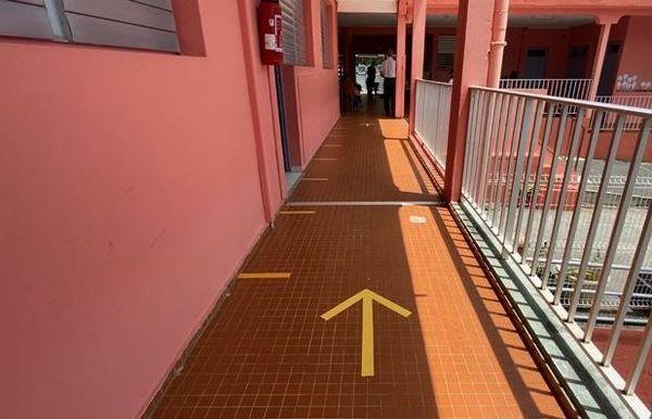 Ecole la Lézarde Petit-Bourg, rentrée après confinement