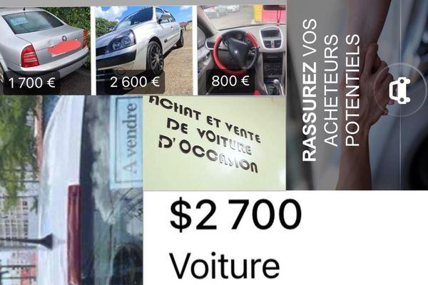 Voitures / véhicules d'occasion en ligne