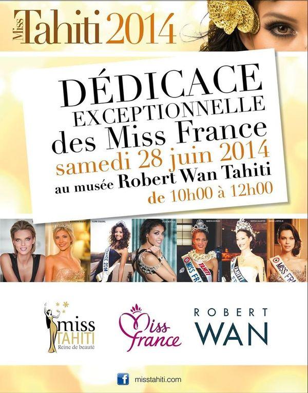 dedicaces Miss Tahiti 2014