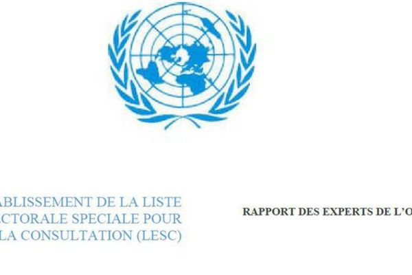 Liste référendaire : rapport des experts ONU