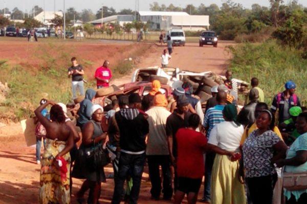 Les habitants de la zone Terca mobilisés font barrage