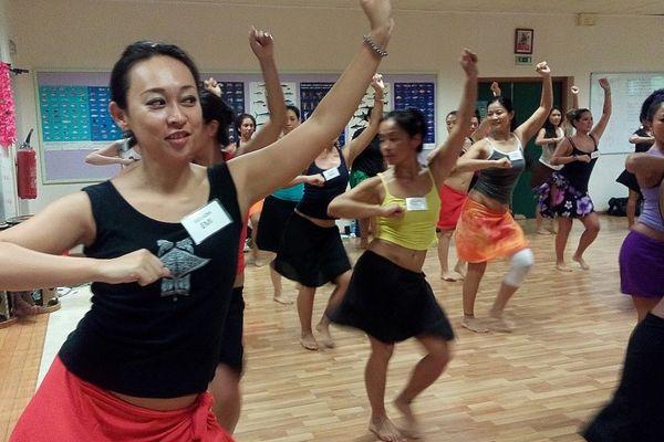 Les danseuses japonaises fidèles au rendez vous