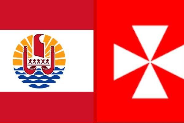 Drapeaux Polynésien et wallisien