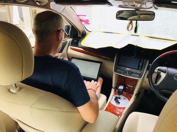 télétravail en voiture