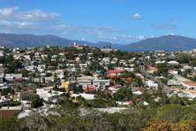 Vue sur le quartier du Faubourg-Blanchot à Nouméa.