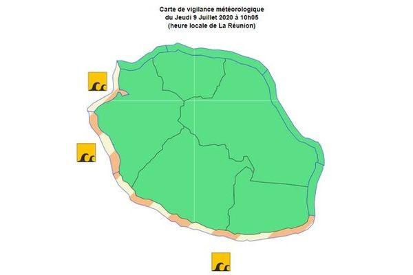 Cartavis de forte houle 10 juillet 2020