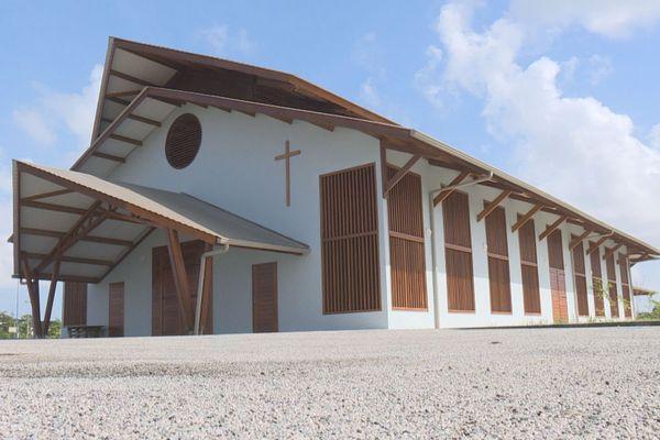 L'église Miséricorde divine du quartier de Soula à Macouria