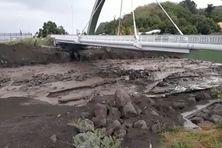 Coulées de boue dans la rivière des Abymes, le 3 mai 2018