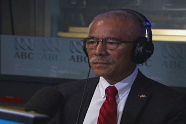 Le président des Kiribati, Anote Tong, dans les studios d'ABC