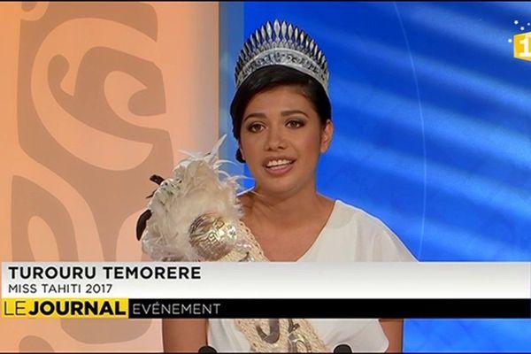 Invitée du journal : Miss Tahiti 2017