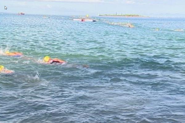 L'épreuve de natation du triathlon international de Nouméa