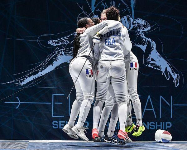 Escrimeuses championnes d'Europe 21 juin 2018