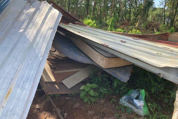 Un maison démolie au squat St Pierre