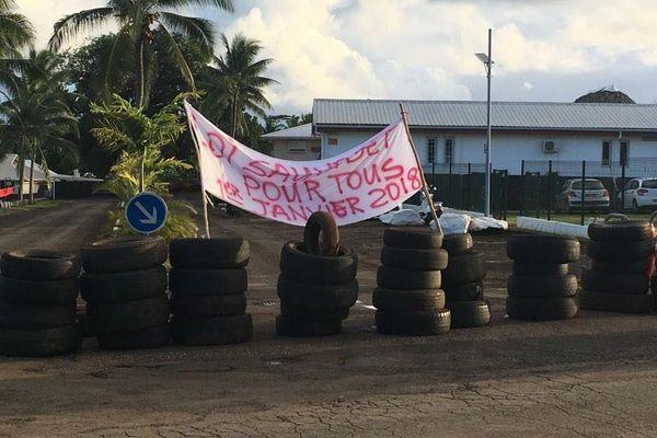 banderole grève Administration supérieure