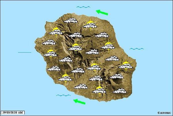 Carte météo 25 mars 2020