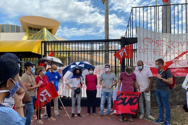 Manifestation devant le rectorat - 1