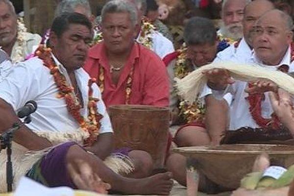 Le kava royal a été préparé par le village de Gahi