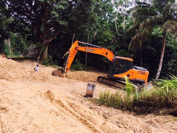 Travaux adduction d'eau Tiwaka