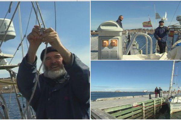 Jésus Liero navigateur espagnol en escale à SPM