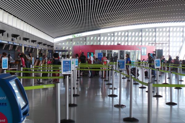 Ambiance à l'aéroport