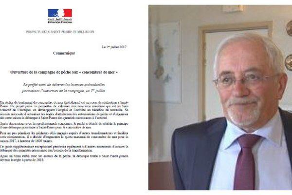 Communiqué de la préfecture de Saint-Pierre et Miquelon sur les quotas du concombre de mer