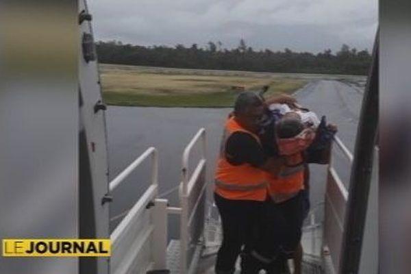 evasan effectuée par les pompiers de Wallis et Futuna