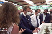 Emmanuel Macron au CRIOBE