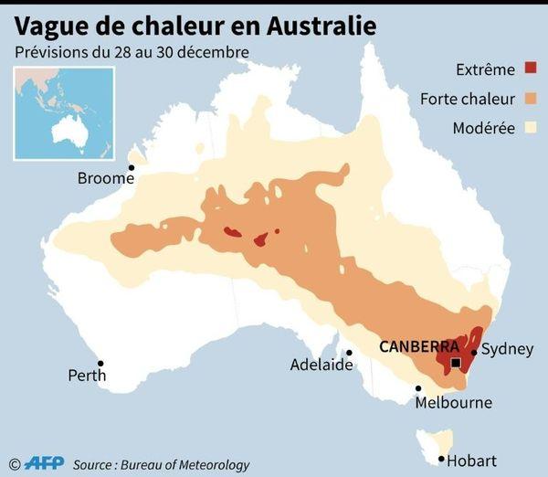 Australie : vague de chaleur en cette fin d'année 2018