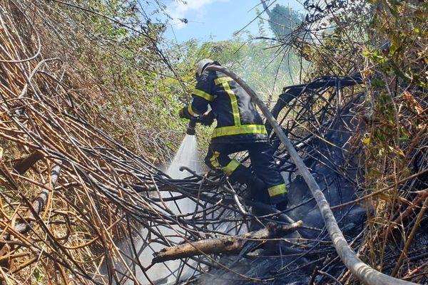 Feux de broussailles - pompier
