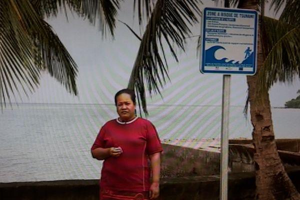 tsunami panneau signalisation Gahi