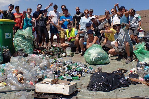 World Clean Up Day sur le site du Cap Lahoussaye