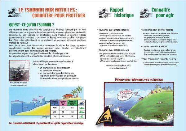 """Deuxième et troisième page """"Plaquette Alerte Tsunami"""""""