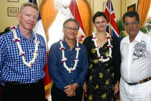 La consul d'Australie en visite à la Présidence