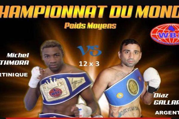 Affiche de boxe Mothmora/Gallardo