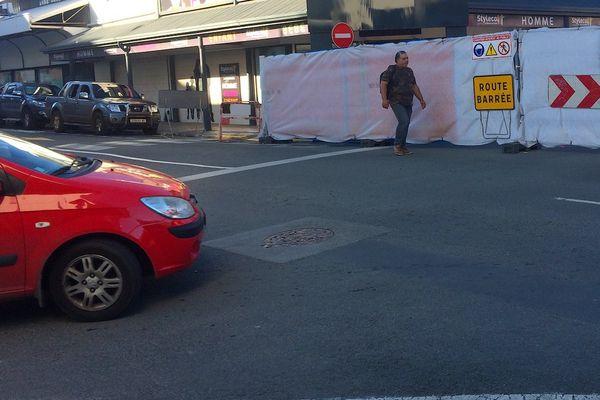 Travaux rue de l'Alma assainissement chaussée trottoirs (juillet 2017)