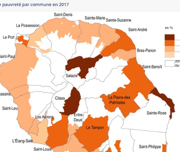 taux de pauvreté par commune en 2017