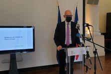 Stanislas Cazelles au cours de sa conférence de presse du lundi 7 décembre 2020.