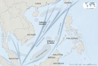 Carte de la région disputée.
