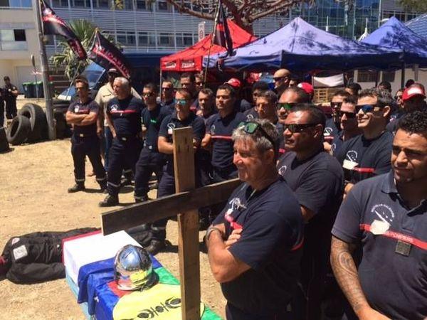 Mobilisation pompiers devant le gouvernement, 26 octorbe 208
