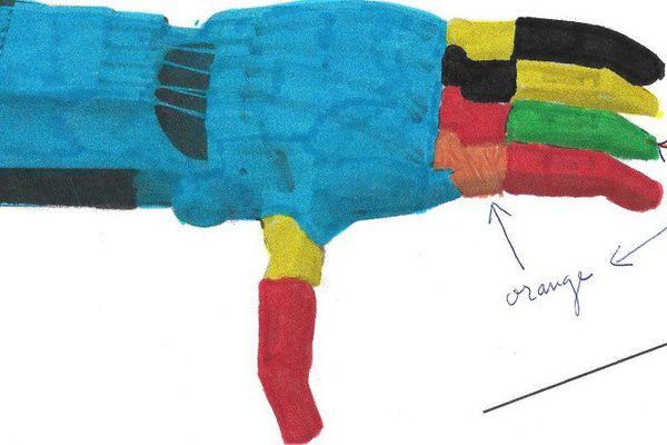 La main dessinée par E-nable Nouvelle-Calédonie