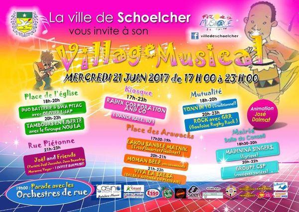 Programme fête de la Musique de Schoelcher