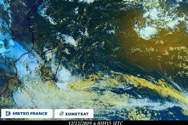Image satellite de l'océan Indien