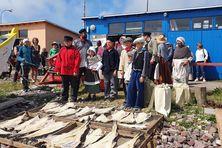 Reconstitution historique d'un retour de pêche en doris organisé par l'association des Zigotos